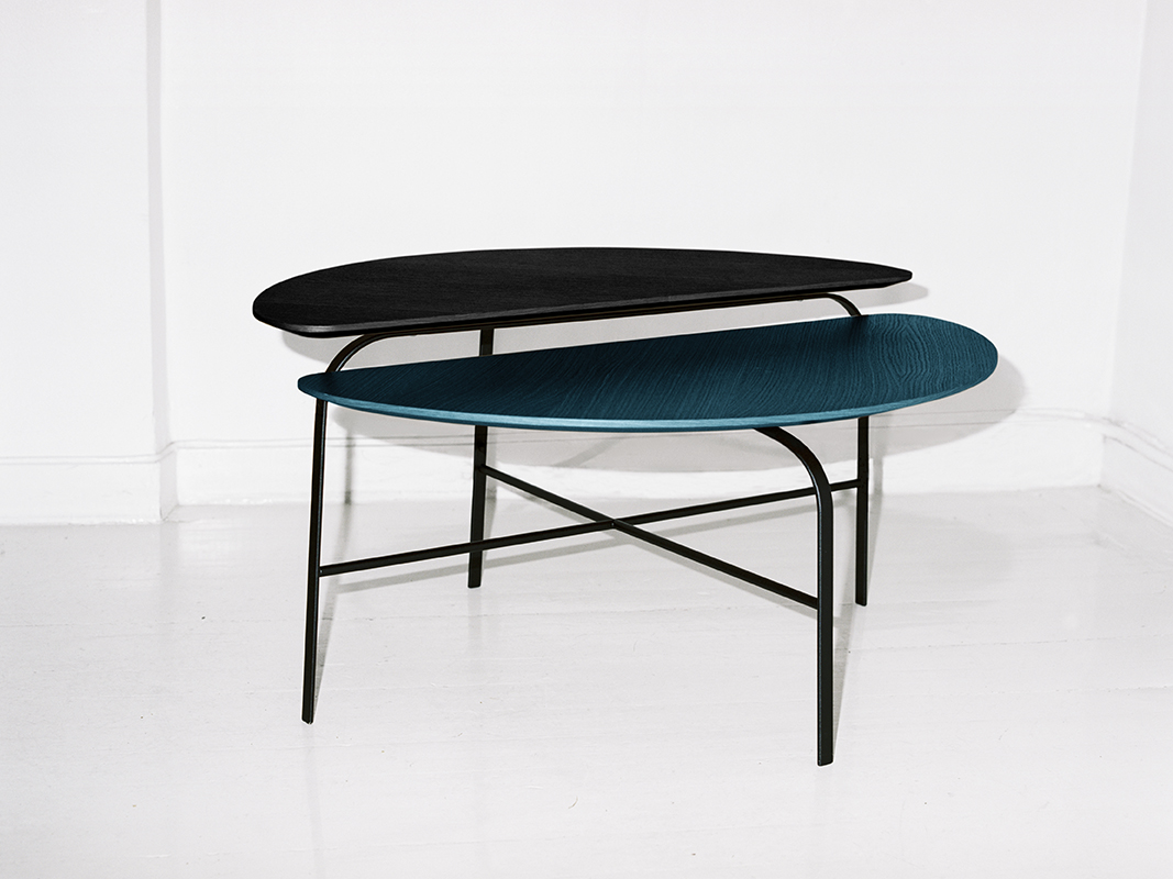 Coffee Bean sidetable for Swedese - Exhibiting at Swedese, Milan Furniture Fair, Hall 16, Stand E26