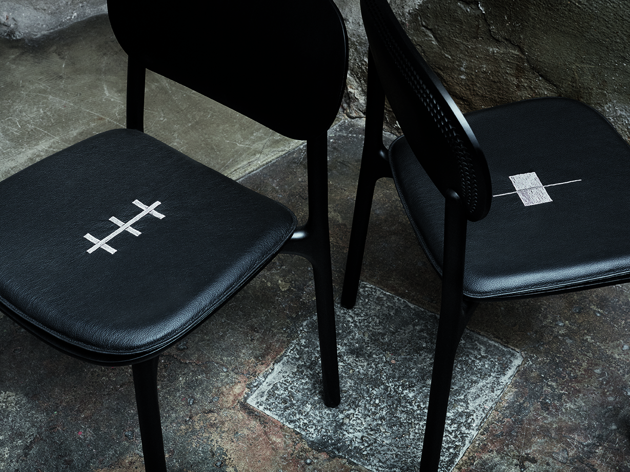 Unna chair for Zanat - Exhibiting Beyond Black at JUS Store, Brunnsgatan 7, Stockholm