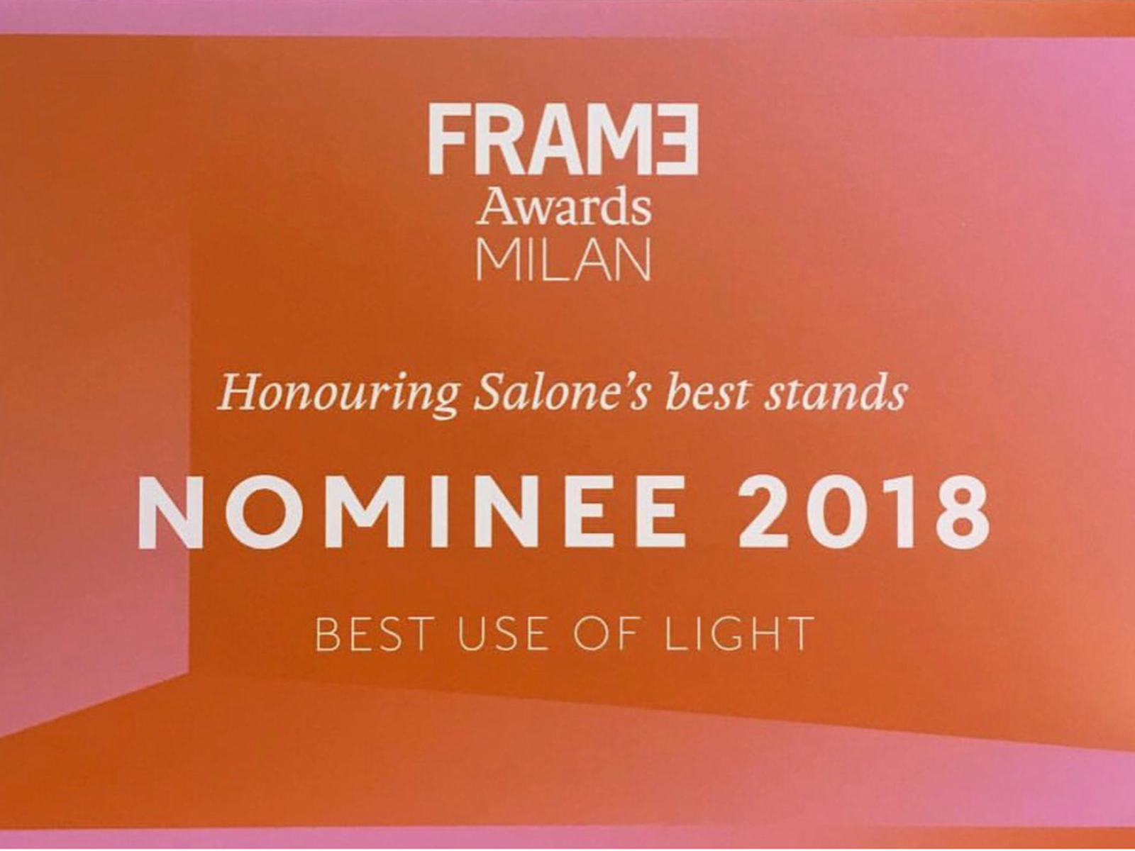 Nominee Frame Award Milan 2018 - Swedese stand Milan 2018, nominated best use of light