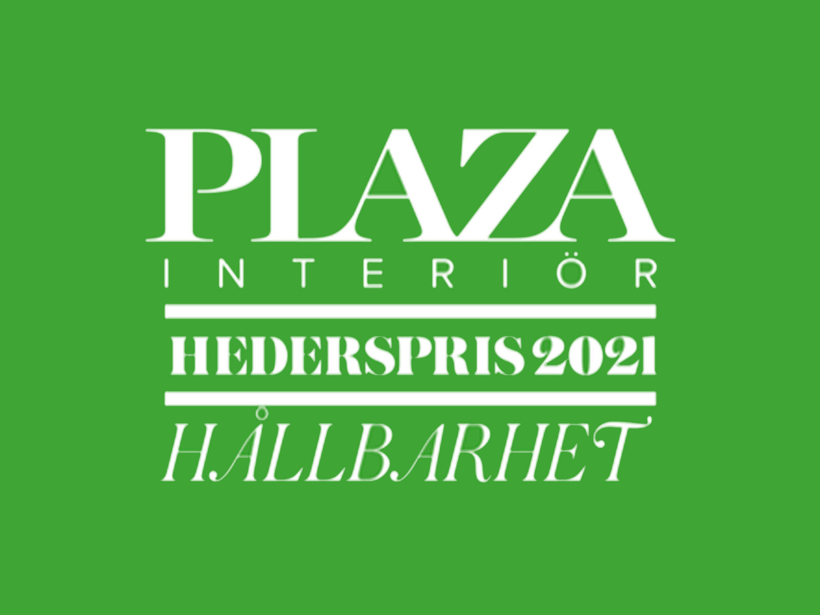 Plaza Interior's Award of Honour 2021 - Swedish Award of Honour 2021  for Sustainability with our collection of hooks and knobs for Habo Selection casted in recycled brass. 
