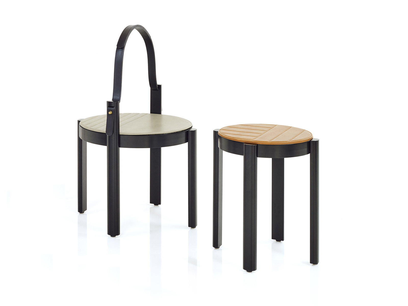 Melange Handle Table & Stool/Table For Wittmann - New project launched at IMM Cologne 2018