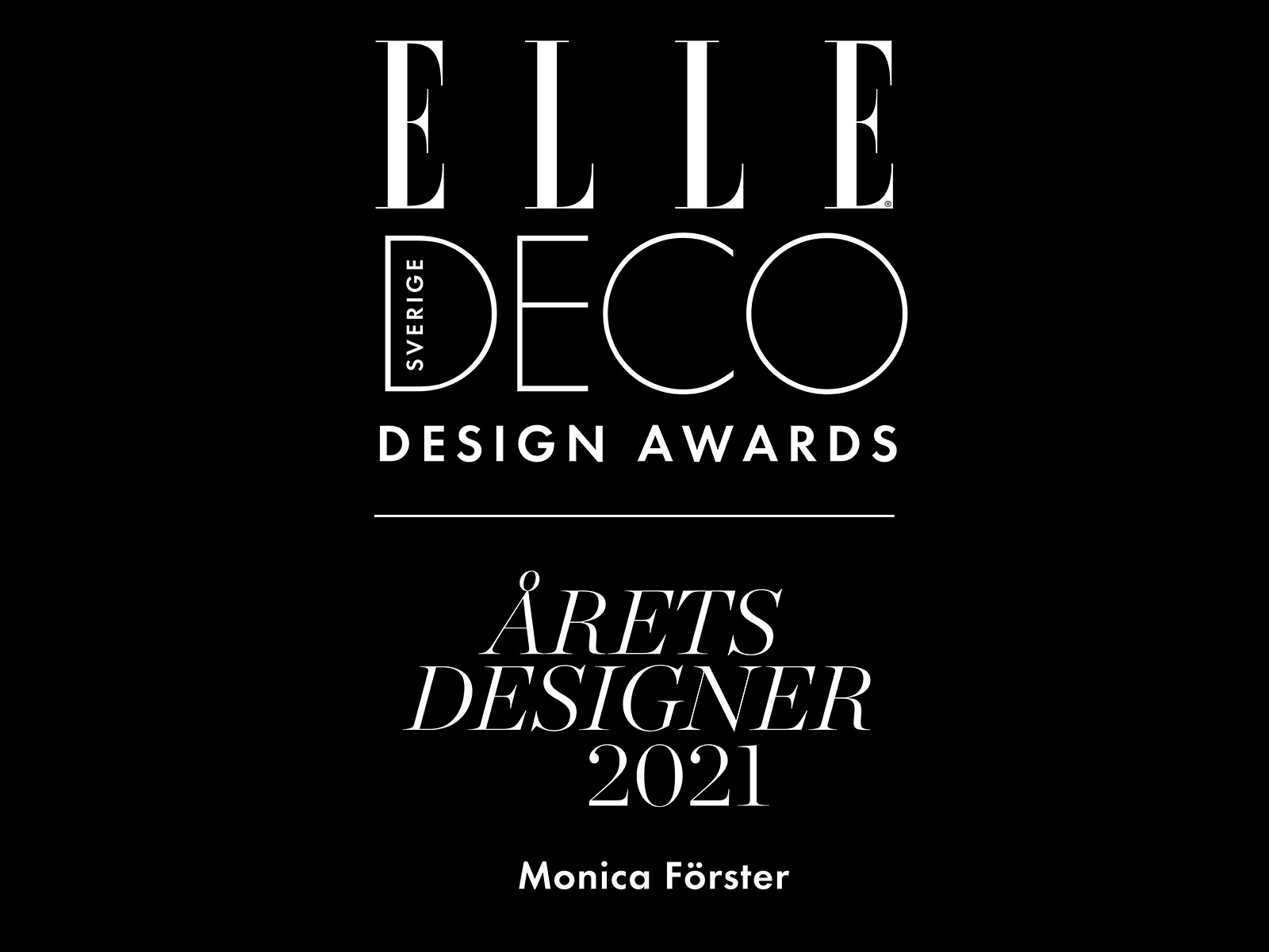 Designer of the Year 2021 - Award Designer of the Year 2021 by ELLE DECORATIONS